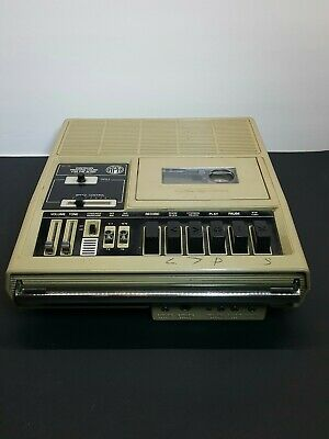 General Electric 3-5194A American Printing House Cassette Player  works vintage