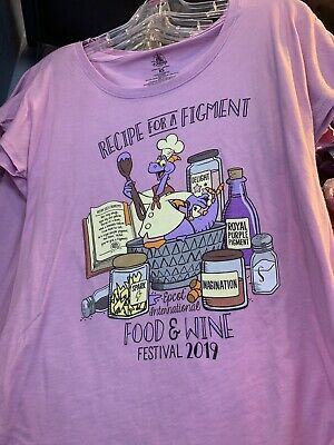 2019 NWT Disney Epcot Figment Food & Wine Festival Short Sleeved t-shirt S-XXL