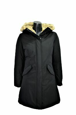 Hox Jacket Woman Xd 4501 Black Hooded Lined in Faux Fur