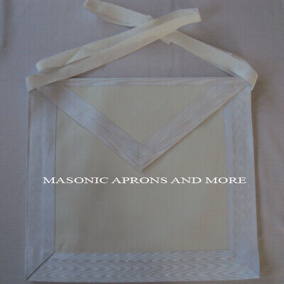 Craft Lodge Entered Apprentice Apron with Tie Belt(Lambskin)(4045)