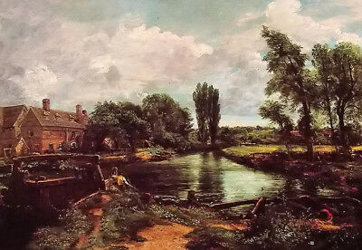 Dream-art Oil painting john constable - a water mill beautiful landscape canvas