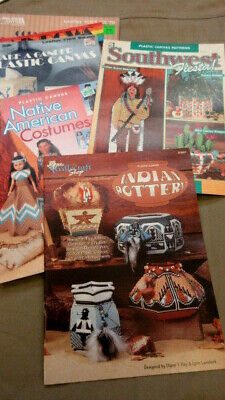 Lot of 22 Plastic Canvas Magazines Leisure Arts American Indian Southwest Annie