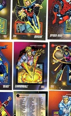 1992 Impel Marvel Universe Series 3 200 Card Complete Set In Order 1-200
