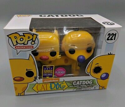 Funko POP! Harry Animation #222 Catdog Flocked Vaulted Cat Dog Exclusive