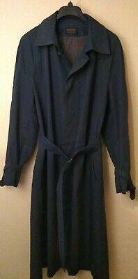 Yves Saint Laurent YSL Men's Navy Blue Trench Coat Size R 42
