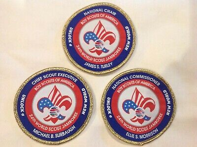 24th World Scout Jamboree 2019 Key 3 Commissioner Executive Chair Patch Set WSJ