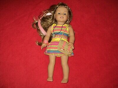 American Girl Doll Lea Clark with Watch Compass Messenger Bag 18""