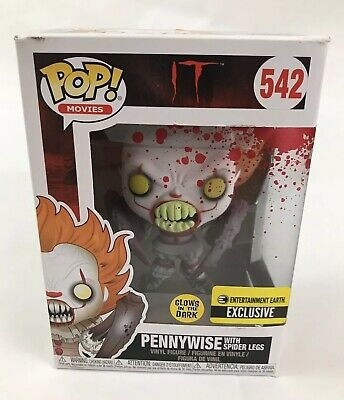 IT Pennywise Funko Pop Glow in the Dark Spider Legs Entertainment Earth 542