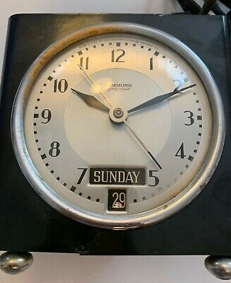 NICE  - Vintage Hammond Synchronous Electric Clock - Not tested! RARE!