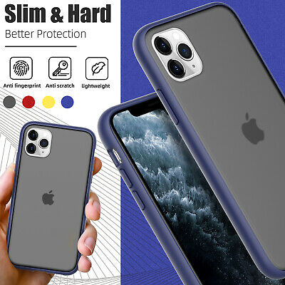 For iPhone 11/11 Pro Max Shockproof Matte Ultra Thin Slim Transparent Phone Case