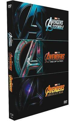 AVENGERS 1-3 MOVIES TRILOGY COLLECTION DVD Assemble, Age of Ultron, Infinity War