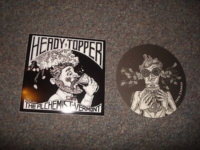 Alchemist Brewing Company Vermont Heady Topper Focal Banger Sticker Coaster Pack