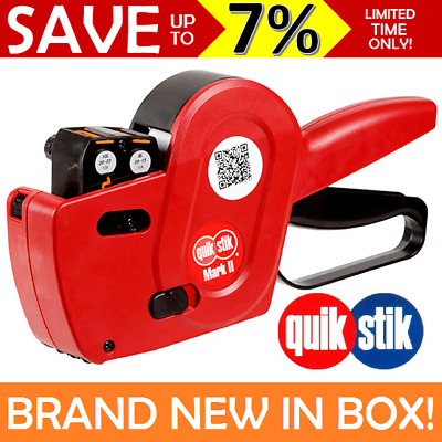 NEW IN BOX QUIKSTIK Pricing Gun Price Mark II Double Two Lines Labeller 48245