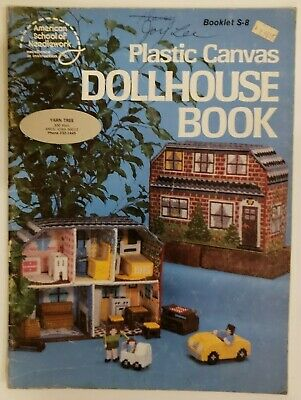 Dollhouse Book Plastic Canvas Pattern Booklet S-8 American School of Needlework
