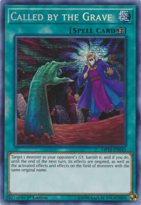 Yugioh Called by the Grave - MP19-EN043 - Prismatic Secret Rare 1st Near Mint