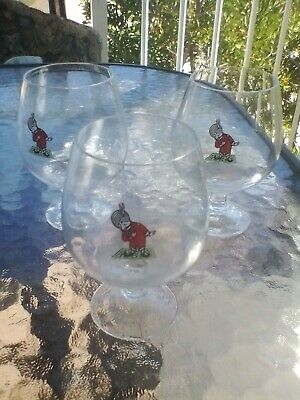 Vintage Air India wine glasses