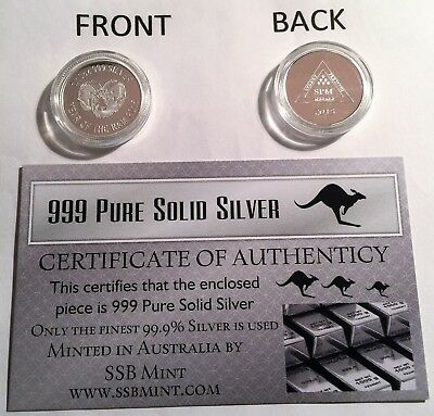 """2015 NEW  """"YEAR OF THE RAM"""" 1/10th OZ 999.0 Pure Solid Silver Coin with C.O.A,"""