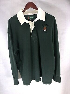 Jameson Irish Whiskey Long Sleeve Rugby Polo Shirt Stitched Official Logo Size L