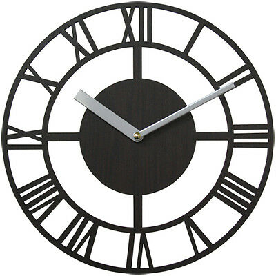 Modern Wooden Wall Clock Antique Retro Round Clock Decor Interior Gift WMC-010