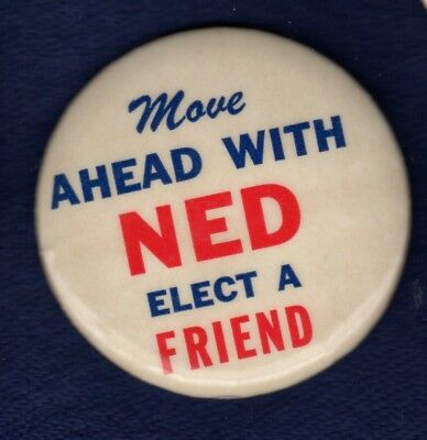 Move Ahead Ned Mcwherter Tennessee Governor Political Campaign Pinback Button #1