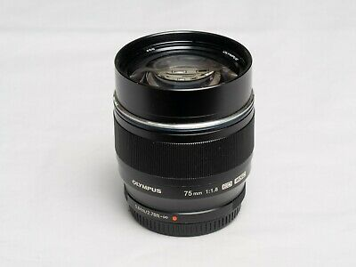 Olympus M.Zuiko 75mm f/1.8 AF ED Lens for Micro Four Thirds - black