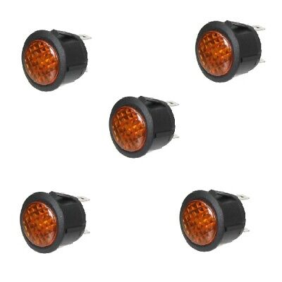 5x Kontrollleuchte Kontrolllampe Warnlampe 12V orange LED