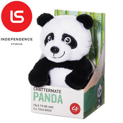 NEW Chattermate - PANDA - Repeats Everything You Say Plush Toy Talking Moving
