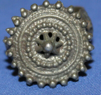 Antique Hand Made Medieval Silver Plated Ring