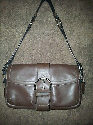 Coach - Brown leather bag, used once