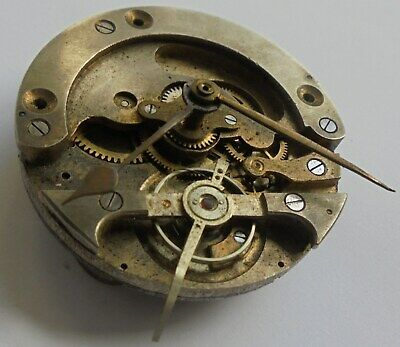 Antique Small unusual Clock or pocket watch movement.