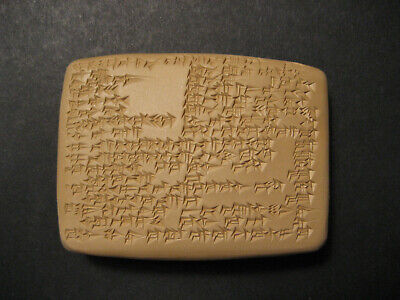 Babylonian Incantation against Toothache - cuneiform tablet, hand-written copy