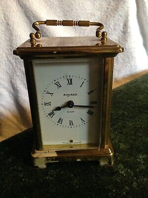 Antique Collectible Eight day French Bayard Carriage Clock