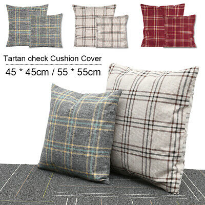 Tartan Check Cushion Cover Regular 18 inch ( 45 cm) or Large 22 inch ( 55 cm)
