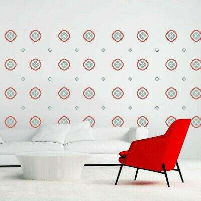 Walplus Retro Patterns Wall Sticker Art Home Bedroom Living Decorations