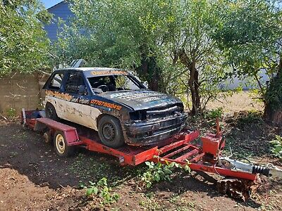 Banger racing car with trailer eligible for junior rod racing