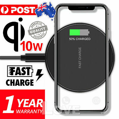 Qi Wireless Charger FAST Charging Pad Receiver For iPhone 11 XS XR 8 Samsung S9