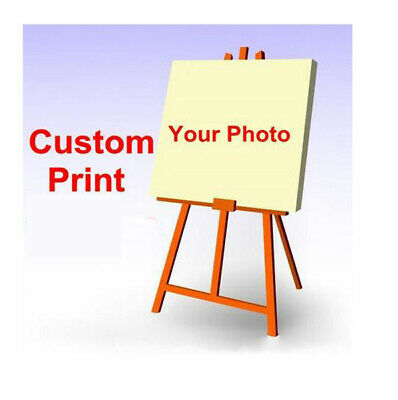 Custom Your Photo Picture Print on Fabric Poster Customized Wall Decor