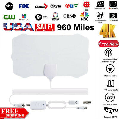 960 Mile Range Antenna TV Digital HD HDTV 1080p Digital Skywire 4K Antena Indoor