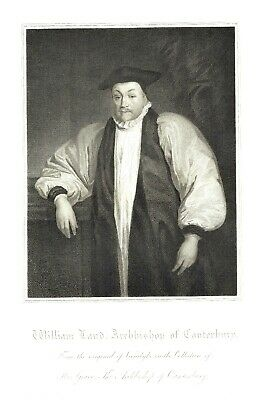 William Laud, Archbishop of Canterbury - Engraving after Sir A. Van Dyke -1815