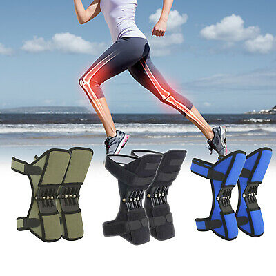 1Pair Knee Stabilizer Pad Lift Joint Support Powerful Rebound Spring Force ES