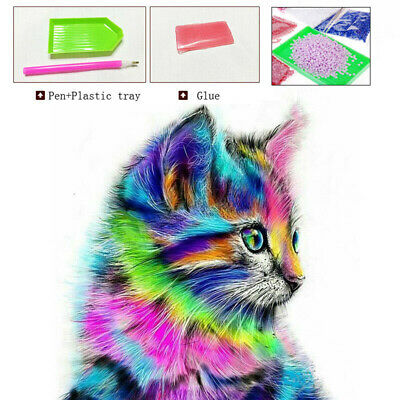 Cat 5D Diamond Painting Embroidery Cross Craft Stitch Pictures Arts Mural Decor
