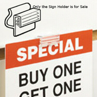 Clear Sign Holder 1 Inch H for Slatwall - Pack of 10
