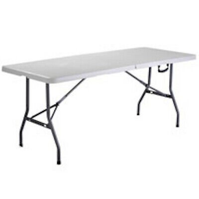 Rectangle Folding Portable Table 6 feet in White