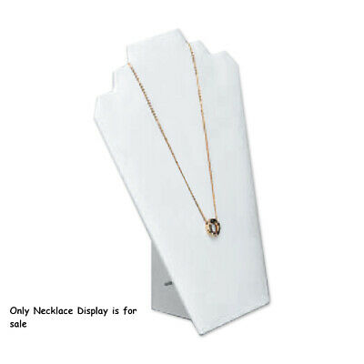 Leatherette Necklace Display in White 8.25 W x 12.50 H Inches