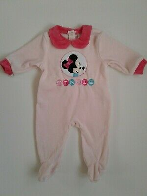 Baby girls clothes velour baby grow 3 6 12 18 months