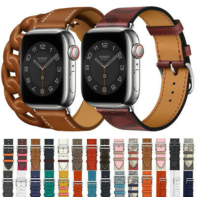 Leather Single Tour/Double Tour Strap Band Bracelet For Apple Watch Series 5/4/3