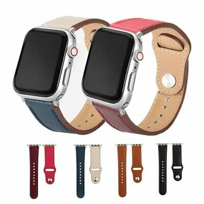 2020 Luxury Genuine Leather Watch Band For Apple iWatch 5/4/3/2/1 38 40 42 44mm