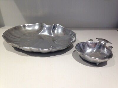 WILTON ARMETALE PEWTER RWP CLAM SHELL CHIP & DIP SET 356904 Hors D'Vre