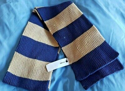 Boys Authentic DKNY Blue & Beige Scarf - New with labels, ex display- RRP £16.99