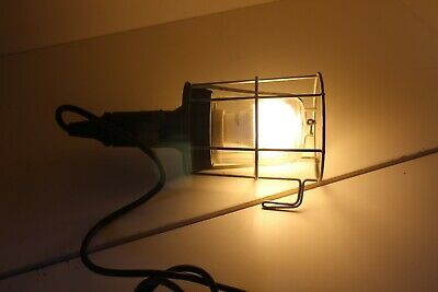 Ancienne Lampe Baladeuse - Vintage Inspection Lamp - Globe En Super Etat